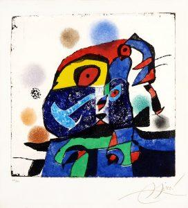 Joan Miró Etching, Gaudí V, 1979