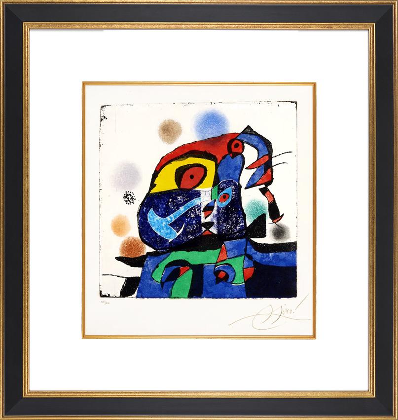 Joan Miró Etching Gaudí V, 1979 frame