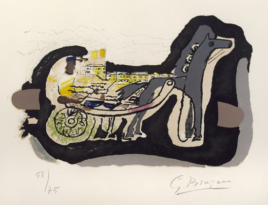 Georges Braque Lithograph, Gélinotte (Grouse), 1960