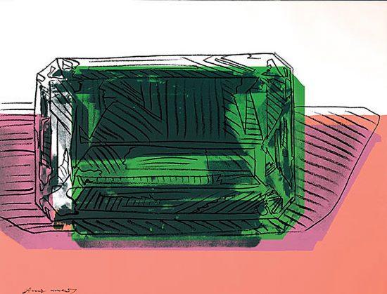 Andy Warhol Screen Print, Gems, 1978 FS II.188