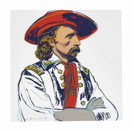 Andy Warhol Screen Print, General Custer, from the Cowboys and Indians Series, 1986