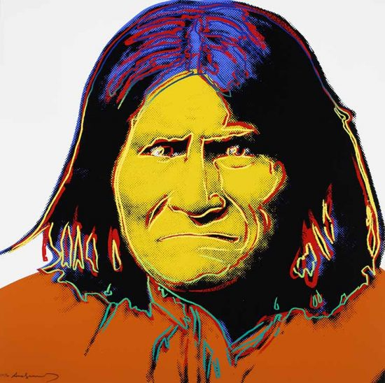Andy Warhol Screen Print, Geronimo, from the Cowboys and Indians Series, 1986