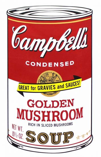 Andy Warhol Lithograph, Golden Mushroom Soup, from Campbell's Soup II, 1969