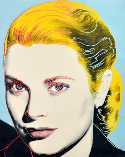 Andy Warhol Lithograph, Grace Kelly, 1984