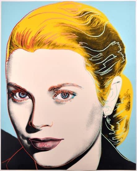 Andy Warhol Screen Print, Grace Kelly, 1984