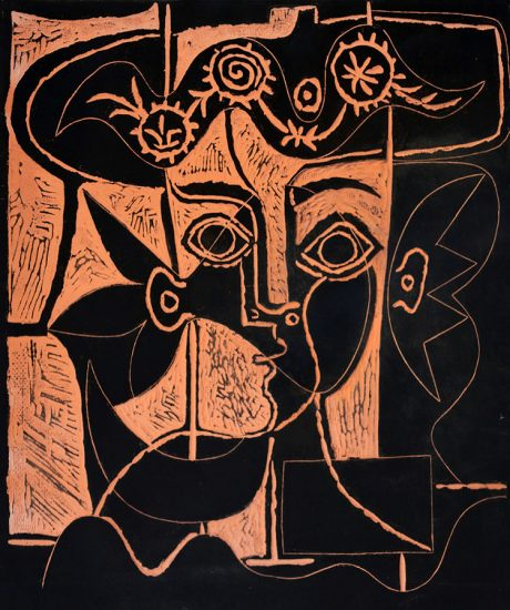 Pablo Picasso Ceramic, Grande Tête De Femme Au Chapeau Orné (Woman's Big Head with Decked Hat), 1964