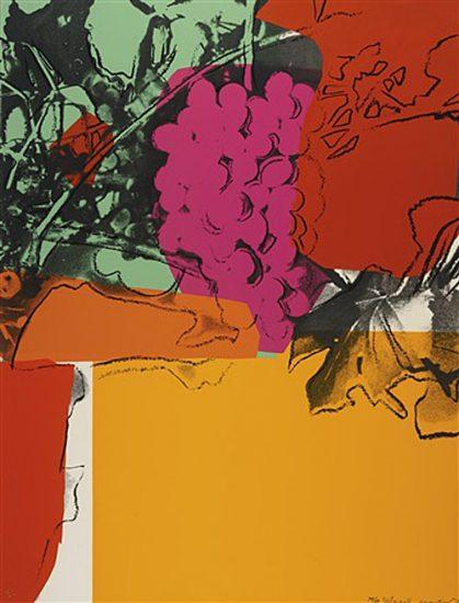 Andy Warhol Screen Print, Grapes, 1979 FS II.190