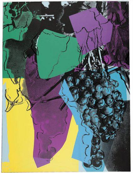 Andy Warhol Screen Print, Grapes, 1979 FS II.195