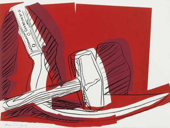 Andy Warhol Screen Print, Hammer and Sickle, 1977 FS II.162