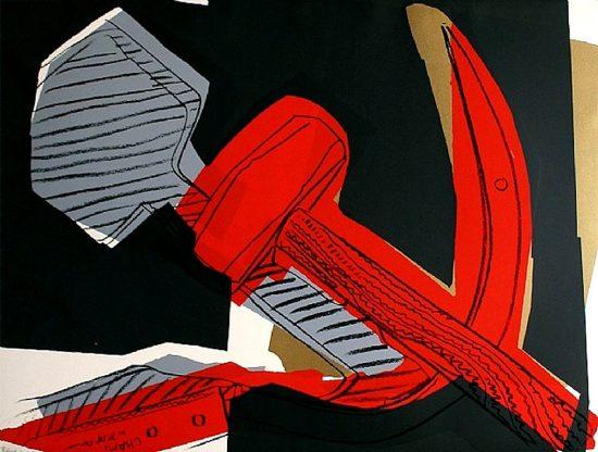 Andy Warhol Screen Print, Hammer and Sickle, 1977 FS II.164