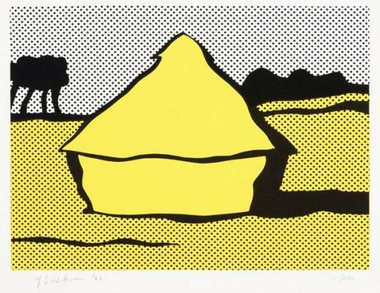 Roy Lichtenstein Lithograph, Haystack, 1969, C.84