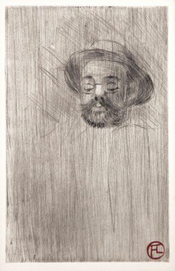 Henri de Toulouse-Lautrec Etching, Henri Somm, 1898