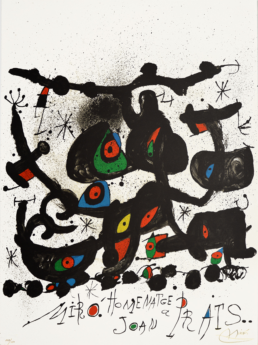 Joan Miro Lithograph Homentage a Joan Prats 1971 for sale (image 1)