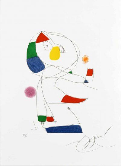 Joan Miró Lithograph, Hommage a San Lazzaro, Pl. 4, 1977