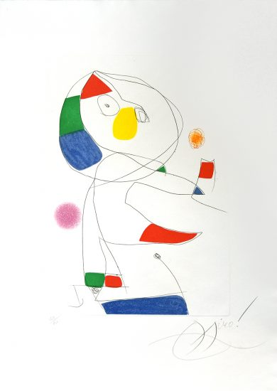 Joan Miró Aquatint, Hommage a San Lazzaro, Pl. 4, 1977