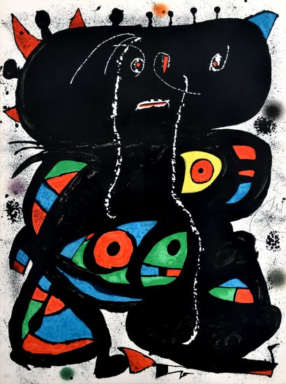 Joan Miró Lithograph, Hommage aux Prix Nobel (Tribute to the Nobel Prize), 1976