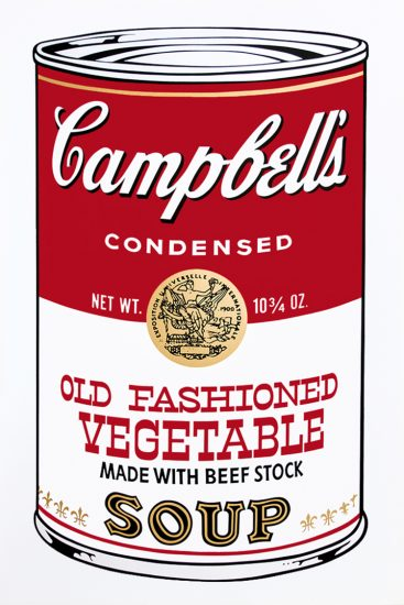 Andy Warhol Screen Print, Old Fashioned Vegetable Soup from Campbell's Soup II, 1969