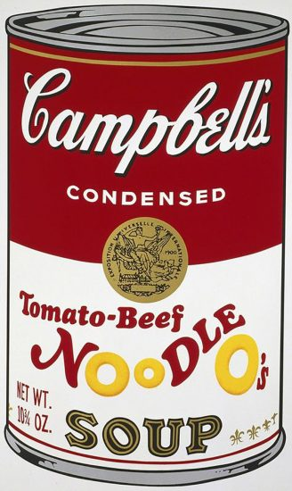 Andy Warhol Screen Print, Tomato-Beef Noodle Soup, from the Campbell's Soup II Portfolio, 1969
