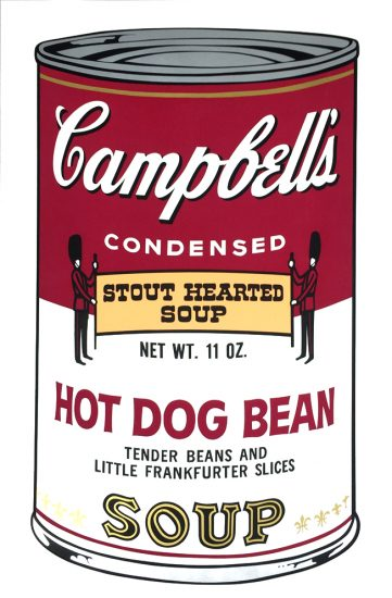 Andy Warhol Screen Print, Hot Dog Bean, from the Campbell's Soup II Portfolio, 1969