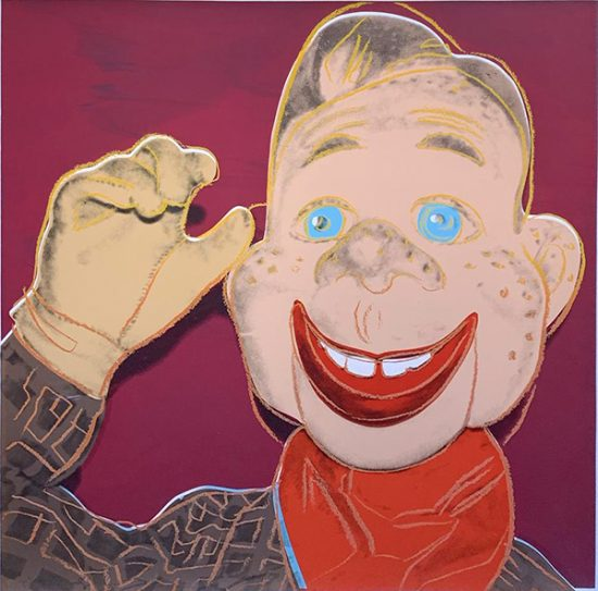 Andy Warhol Screen Print, Howdy Doody, from Myths, 1981 Unique Trial Proof