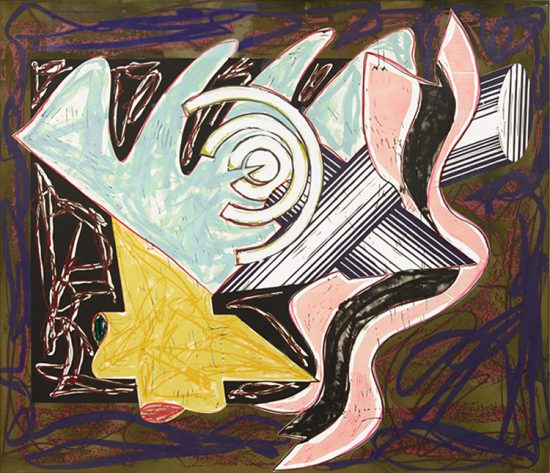 Frank Stella Lithograph, A Hungry Cat Ate Up the Goat, 1984