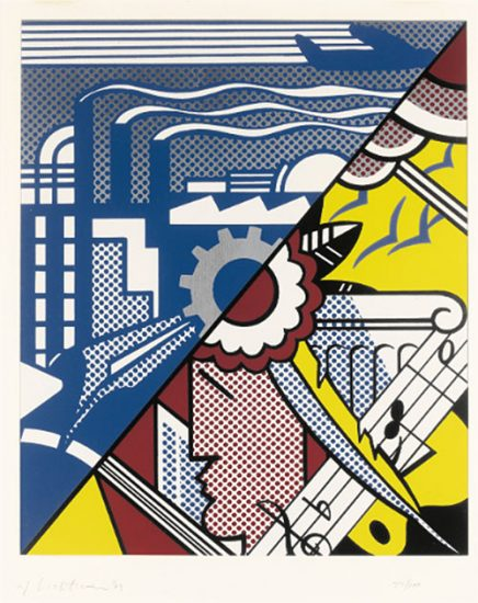 Roy Lichtenstein Screen Print, Industry and the Arts (I), 1969, C.85