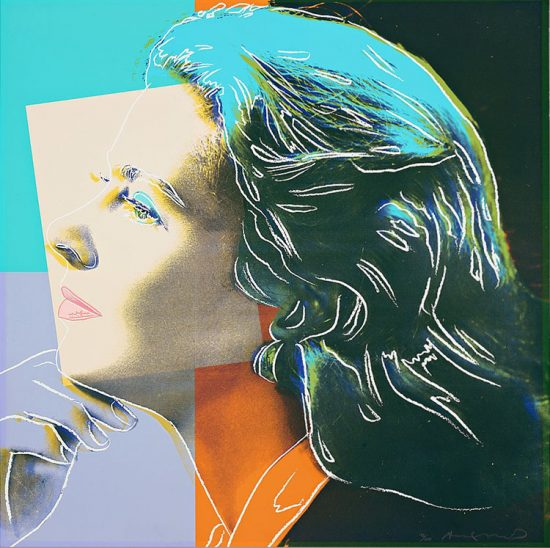 Andy Warhol Silkscreen, Ingrid Bergman Herself, 1983