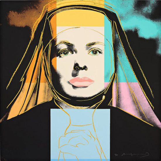 "Andy Warhol Silkscreen, Ingrid Bergman The Nun (From ""The Bells of St. Mary's""), 1983"