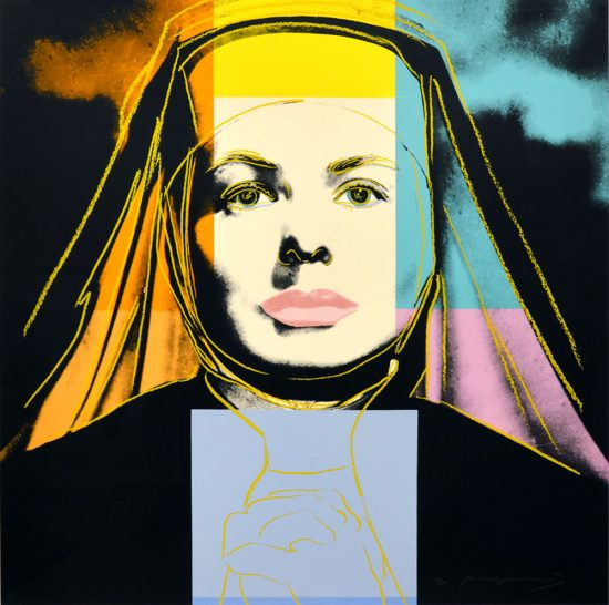 "Andy Warhol Lithograph, Ingrid Bergman The Nun (From ""The Bells of St. Mary's""), 1983"