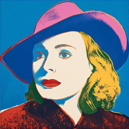"Andy Warhol Silkscreen, Ingrid Bergman With Hat (From ""Casablanca""), 1983"