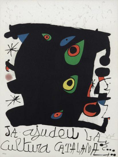 Joan Miró Lithograph, Ja ajudeu la cultura catalana, 1974