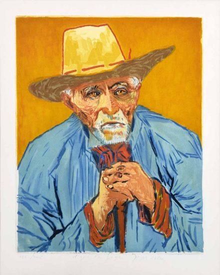 Vincent van Gogh Lithograph, Jacques Villon Le Paysan (The Peasant), 1927, After Van Gogh