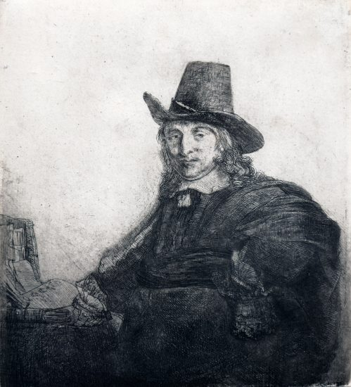 Rembrandt Etching, Jan Asselyn, Painter, c. 1646
