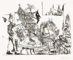 Pablo Picasso Lithograph, Jeux de pages (Pages' Games), 1951