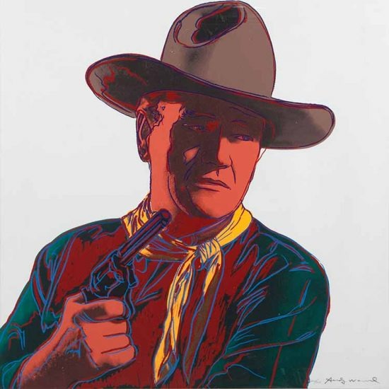 Andy Warhol Screen Print, John Wayne, from the Cowboys and Indians Series, 1986