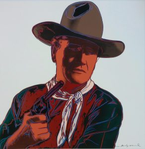 Andy Warhol Screen Print, John Wayne from the Cowboys and Indians Series, 1986