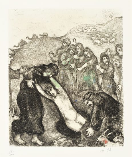 Marc Chagall Lithograph, Joseph and His Brothers (from the Bible Series), 1958
