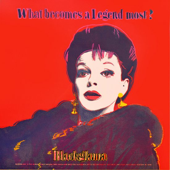 Andy Warhol Screen Print, Judy Garland, Blackglama, from the Ads Series, Unique Trial Proof