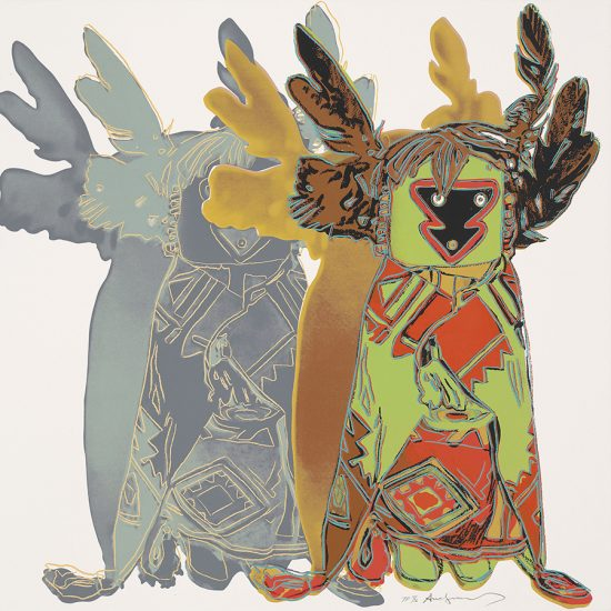 Andy Warhol Screen Print, Kachina Dolls, from the Cowboys and Indians Series, 1986 Unique Trial Proof