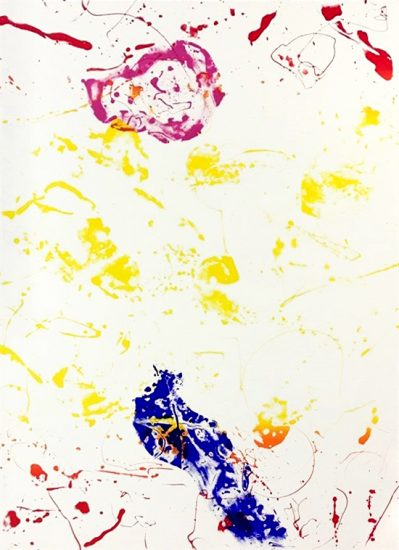 Sam Francis Screen Print, King Corpse, 1986