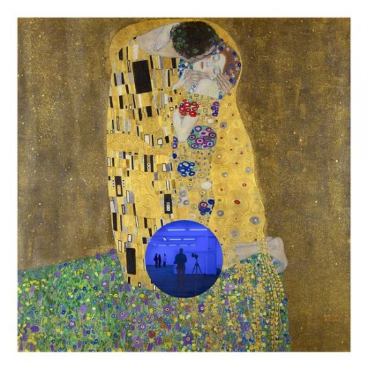Jeff Koons Mixed, Klimt Kiss Gazing Ball, 2019