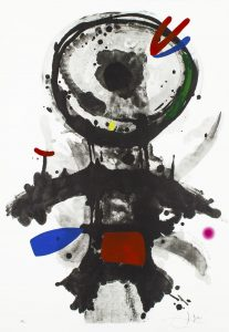 Joan Miró Aquatint, L' Ange Crible (The Riddled Angel), 1973