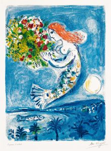 Marc Chagall Lithograph, La Baie des Anges (The Bay of Angels), 1962