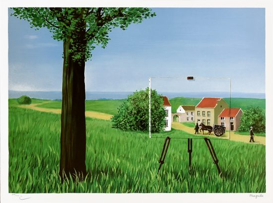 René Magritte Lithograph, La belle captive (The Fair Captive), 2003