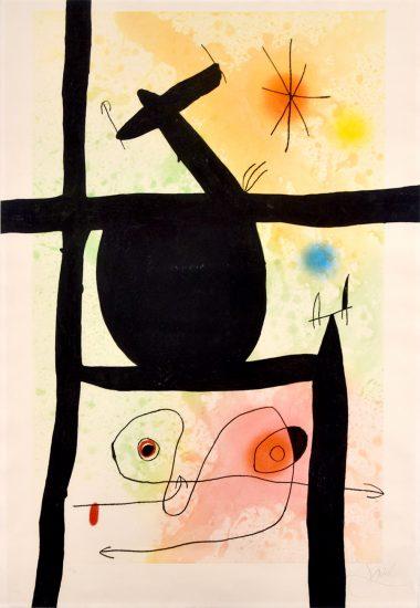 Joan Miró Etching, La Calebasse (The Gourd), 1969