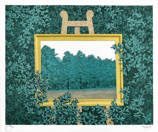 René Magritte Lithograph, La cascade (The Waterfall)