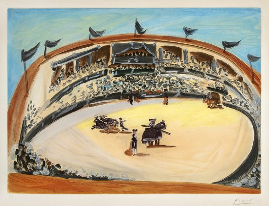 Pablo Picasso Aquatint, La Corrida (The Bullfight), 1956