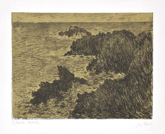Claude Monet Lithograph, La Côte Sauvage (The Wild Coast), 1894