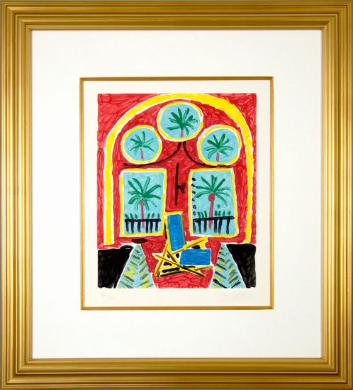 Pablo Picasso Aquatint, La fenêtre de l'atelier à la Californie, 1959