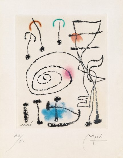 Joan Miró Aquatint, La mesure du temps (The Measure of Time), 1960